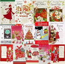 Sister / Sister-in-Law Christmas Cards - Various Designs Available