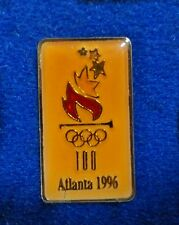 Rare ~ Mexico Made Version Atlanta 1996 Olympic Flaming Torch Logo Lapel Pin