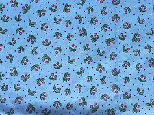 Clearance FQ blu MINI CHERRY CILIEGIE puntini in tessuto di frutta