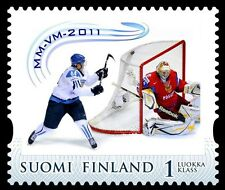 Finland 2011 MNH Mikael Granlund Lacrosse goal stamp Worldchampion Ice Hockey