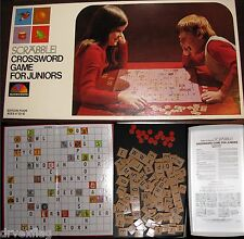 Complete Vintage 1975 SCRABBLE FOR JUNIORS by Selchow & Righter #18 MINT RARE