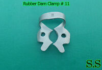 3 Endodontic Rubber Dam Clamp # 11 Dental Instruments