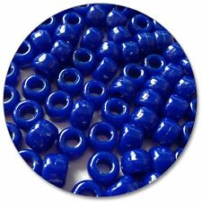 068 - Barrel Pony Beads - Royal Blue - Opaque