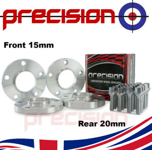 Staggered Fitment Hubcentric Alloy Wheel Spacers 15mm/20mm + Bolts BMW 3 Series