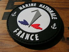 SNAKE PATCH - MARINE NATIONALE FRANCE - PVC silicon 3D dos en scratch COMMANDO