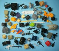 Lot GI Joe 1980s 1990s Original Figure Accessories Guns Gear Weapons Backpacks