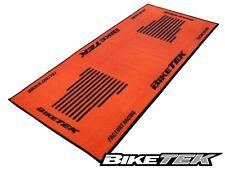 KTM ORANGE MOTORCYCLE GARAGE MAT WORKSHOP NON-SLIP BACKING KTM ORANGE PIT MAT