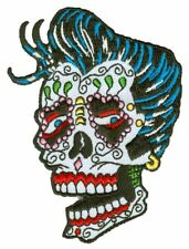 Dan Morris Sunny Buick Sugar Skull Iron On Patch Embroidered FAST US SHIPPING