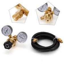Argon Co2 Tig Mig Flow Meter Regulator Welding Welder Gauge Amp 6 Inert Gas Hose