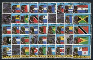 Panama 1428/1527 postfrisch 90 Werte kompl. / Fußball ...................2/13557