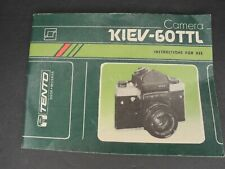 Kiev 60TTL Camera Instruction Book / Manual / User Guide In English