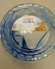"Pyrex  9 1/2"" Pie Plate cobalt blue, watercolors,bakeware,corningware"