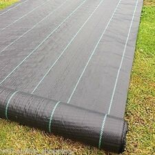 1 x 50m 100gsm weed control fabric ground cover membrane landscape mulch garden