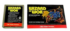 Wizard of Wor (Atari 2600, 1981) By CBS Electronics (Cartridge & Manual) NTSC