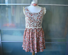 Authentic Liz Lisa Marron Motif Floral Robe & Haut Dentelle ~ Japon ~ lolita ~ japonais