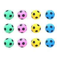12pcs Cute Dog Cat Chew Ball Foam Football Pet Interactive Fetch Play Toy R1BO