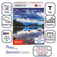 A4 Matte DS (double side) Premium Inkjet Photo Paper 140gsm (100 Sheets). Matt
