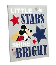 "New listing New Disney Baby Mickey Mouse ""Little Stars Shine Brigh""1Piece Nursery Wall Decor"