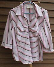 Woman's Pink Multi-Colored Blouse by Caren Sport; Size: 3X