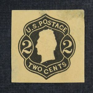 CKStamps: US Cut Sqaure Stamps Collection Scott#U46 Unused H NG Thin