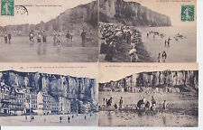 Lot 4 cartes postales anciennes LE TREPORT 6