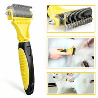 Professional Pet Grooming Undercoat Rake Comb Dematting Tool Dog Cat Brush AU