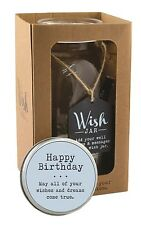 Splosh Glass Wish Jar Happy Birthday Party Guest Wishes & Pen Celebrate Gift Set