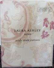 "Laura Ashley Baroque Vintage Style Curtains in Raspberry 64"" x 54"" / 162 x 137cm"