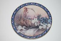 "Bradford Exchange ""Irises"" Collectors Plate, Lena Liu's Basket Bouquets 4th Plat"