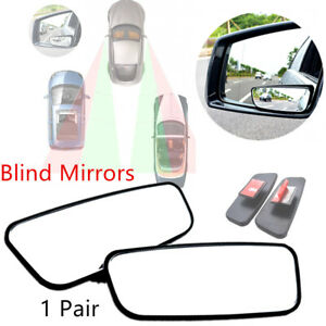 Left & Right Side Blind Spot Wide View Mirror Rearview Mirrors Review Mirror