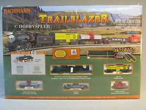 BACHMANN N SCALE TRAILBLAZER SET train steam tender engine freight gauge 24024