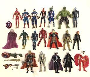 "Marvel Avengers Falcon Nick Fury Spiderman Iron Man Mysterio 4"" Action Figures"