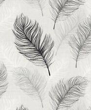 Bird Feathers Quill Pen - Arthouse Whisper Black White Wallpaper 669800