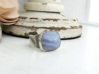 JAY KING DTR Sterling Silver 925 Blue Lace Agate Desert Rose Trading Sz 10 Ring
