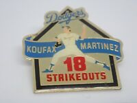 L.A. Dodgers Koufax Martinez 18 Strikeouts Vintage Enamel Lapel Pin