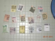 1/35 built 1/18  ww2 German mewspapers & maps LOT