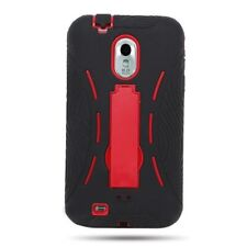 For Samsung EPIC TOUCH 4G D710 Red Black Hybrid Tough Protective Cover Case