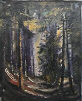Ölgemälde Im Innern des Waldes Forest Woods Impressionist expressiv 37,5 x 46 cm