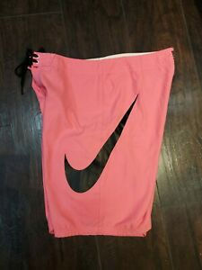Nike Pink Swim shorts size 34 Big Logo EUC Swim Swimming Summer Outdoors