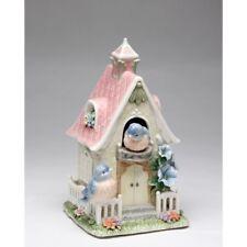 "NEW MUSIC ""HOUSE OF SPLENDOR"" WHITE+PINK+BLUE,BIRD,PORCELAIN FIGURINE-80084-NAIS"