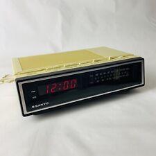 Vintage Retro 80's Sanyo RM 5100 Alarm Clock Radio Sound
