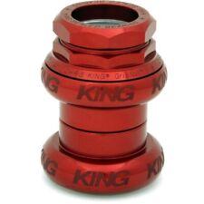 """HSL3R Chris King 2nut Headset 1-1/4"""" red straight steerer tubes"""