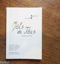 Livre en occitan Mots pour Jouer en Occitan MÒTS DE JÒCS  Glossaire in fine