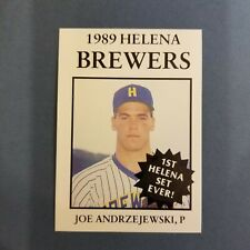 1989 Sports Pro HELENA Brewers #1 JOE ANDRZEJEWSKI Pasadena MARYLAND