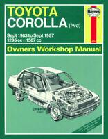 Toyota Corolla 1.3 & 1.6 Petrol 1983-1987 Haynes Manual 1024 NEW