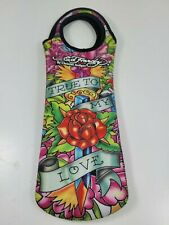 New listing Ed Hardy Christian Audigier Design Wine Insulatated Tote Travel Bag Water Cooler
