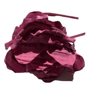 Gap Kids Girls Dark Fuscia Pink Silk Satin Flower Dressy Holiday Party Headband