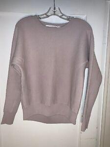 Athleta Thermal Honeycomb Dolman Sweater Size XXS soft lilac #870514.  b212