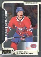 2018-19 O-Pee-Chee Platinum #180 Jesperi Kotkaniemi RC Montreal Canadiens