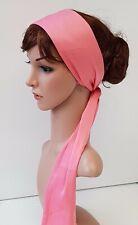 Satin hair tie, long head scarf, hair scarf, headband, bandanna, silky hairscarf